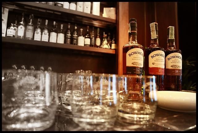 Tasting Line up Bowmore